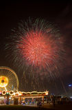 Dubai fireworks Stock Images