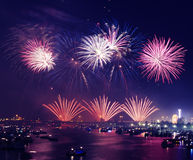 Dubai Fireworks Display during Nighttime Royalty Free Stock Image