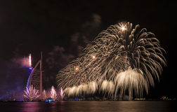 Dubai fireworks for national day Royalty Free Stock Photos