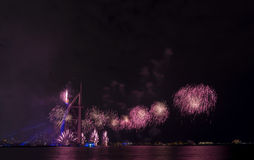 Dubai fireworks for national day Royalty Free Stock Photo