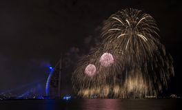 Dubai fireworks for national day Stock Photography