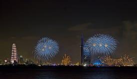 Dubai fireworks Royalty Free Stock Image
