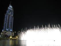 dubai fontann noc Zdjęcia Royalty Free