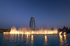 Dubai fountain Royalty Free Stock Image