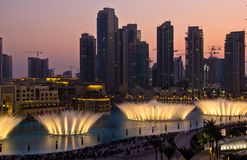Dubai Fountain Stock Photo