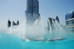 Dubai fountain Stock Photos