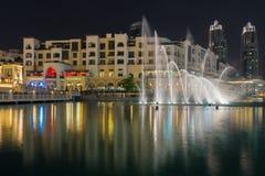 The Dubai Fountain at Night Royalty Free Stock Image
