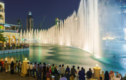 The Dubai Fountain Royalty Free Stock Photography