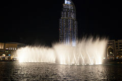 Dubai Fountain Show Royalty Free Stock Photos