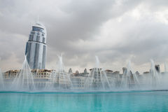 Dubai, fountains Stock Image