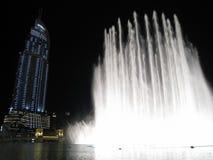 Dubai Fountains at Night Stock Image