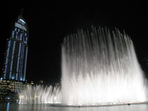 Dubai Fountains at Night Stock Images