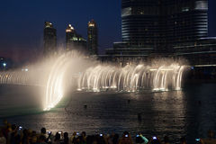 Dubai Fountains Stock Image