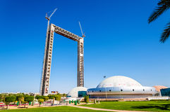 Dubai Frame under construction Stock Images