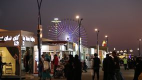 Dubai Global Village stock video footage