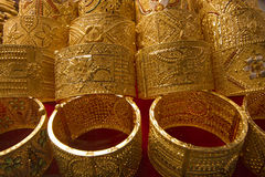 Dubai gold souq bangles Stock Photography