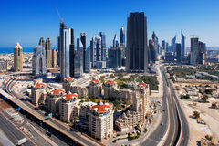 Dubai is graced with exciting architecture Stock Image