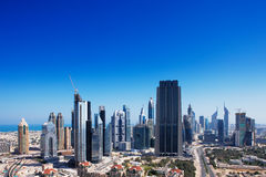 Dubai is graced with exciting architecture Stock Images