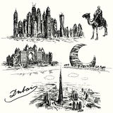 Dubai - hand drawn collection Royalty Free Stock Image
