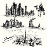Dubai - hand drawn collection Royalty Free Stock Image