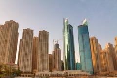 Dubai Highrise Apartments Stock Photography