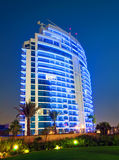 Dubai Highrise building. A prominent Dubai Residential Tower in the Marina Stock Photo
