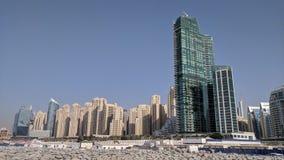Dubai himmellinje royaltyfria bilder