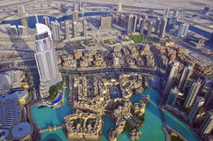 Dubai horisont Arkivbild