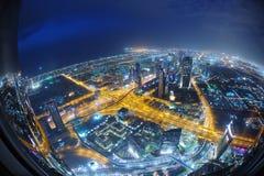 Dubai horisont Arkivfoton