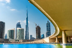 Dubai horisont, UAE Royaltyfri Fotografi