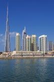 Dubai horisont, UAE Arkivbilder