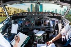 Dubai horisontcockpit Royaltyfria Foton
