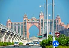 Dubai Hotel. The famous Atlantis Hotel in Dubai royalty free stock images