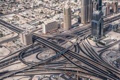 Dubai huvudväg Royaltyfri Bild
