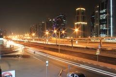 Dubai huvudväg Royaltyfri Foto