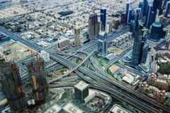 Dubai i miniatyr royaltyfri foto