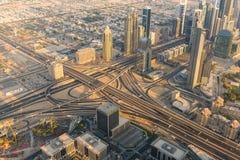 Dubai i stadens centrum morgonplats Royaltyfria Foton