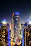 Dubai illuminated Cityscape United Arab Emirates architecture Stock Images