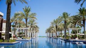 dubai Im Sommer von 2016 Oase des Hotels Park Hyatt Abu Dhabi auf dem Persischen Golf, Abu Dhabi Lizenzfreie Stockfotos