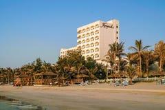 dubai Im Sommer von 2016 Oase des Kempinski-Hotels auf dem Persischen Golf, Adschman Lizenzfreie Stockbilder