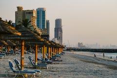 dubai Im Sommer von 2016 Oase des Kempinski-Hotels auf dem Persischen Golf, Adschman Stockfotos