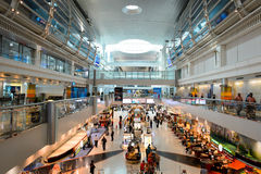 Dubai International Airport interior Royalty Free Stock Image