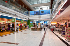 Dubai International Airport interior Royalty Free Stock Photography
