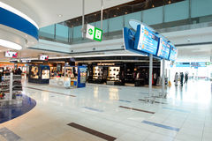 Dubai International Airport interior Stock Photography