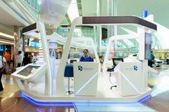 Dubai International Airport interior Stock Photos