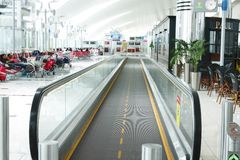 Dubai International Airport is a major aviation hub in the Middle east Royalty Free Stock Image