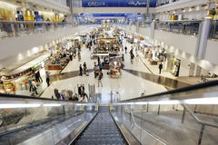 Dubai International Airport. DUBAI-OCTOBER 27:  with glorious duty free section on October 27, 2013. Dubai International is one of the fastest growing major Stock Photo