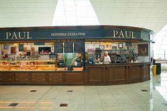 Dubai International Airport. DUBAI, UAE - CIRCA APRIL, 2014: PAUL at Dubai International Airport Royalty Free Stock Images