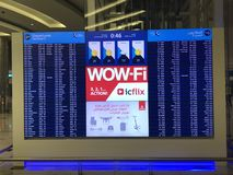 Dubai International Airport in the UAE royalty free stock image