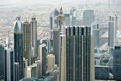 Dubai International Financial Centre. View from Dubai's tower Royalty Free Stock Image